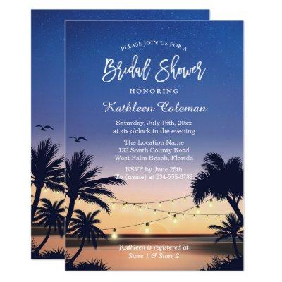 Palm Beach Sunset String Lights Bridal Shower