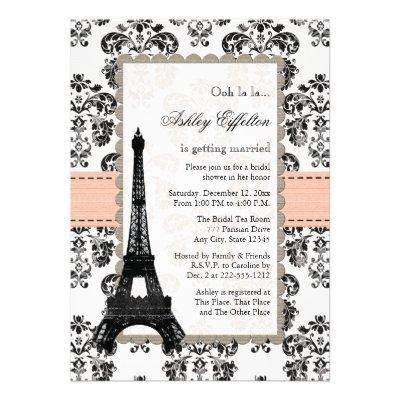 Parisian Coral Peach Bridal Shower