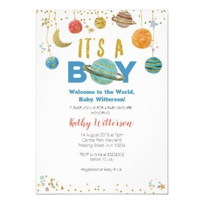 Planets Outer Space Baby Shower