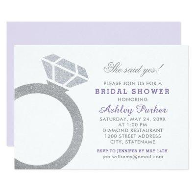 Purple Bridal Shower  | Diamond Ring