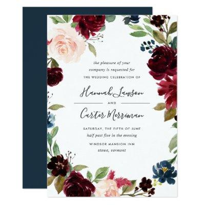 Radiant Bloom Floral Frame Wedding