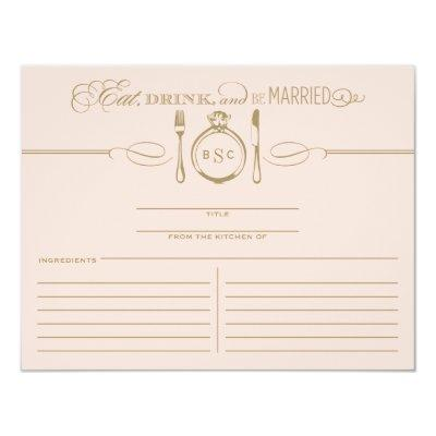 Recipe    Eat, Drink & Be Married Theme