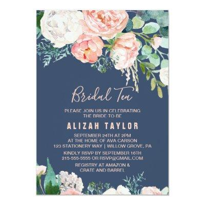 Romantic Peony Flowers | Blue Bridal Tea