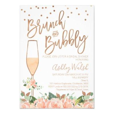 Rose Gold Brunch Bubbly Bridal Shower