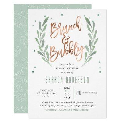 Rose Gold, Brunch & Bubbly, Greenery Bridal Shower