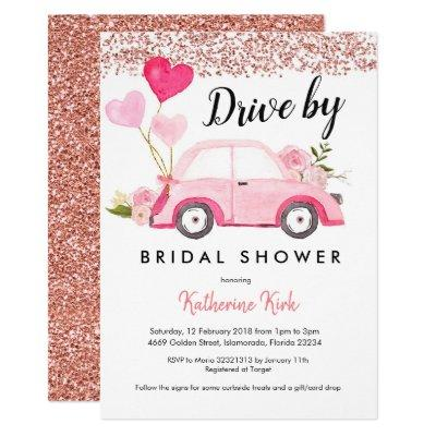 Rose Gold Drive by Bridal Shower