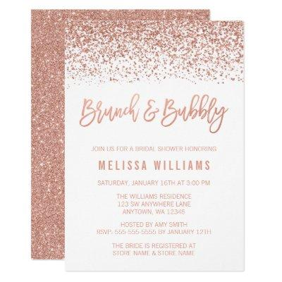 Rose Gold Glitter Brunch and Bubbly Bridal Shower