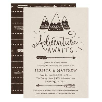 "Rustic ""Adventure Awaits"" Baby Shower"