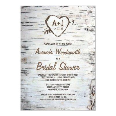 Rustic Birch Tree Bark Bridal Shower