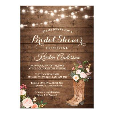 Rustic Boots Cowgirl Bridal Shower