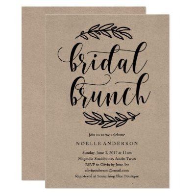 Rustic Bridal Shower Brunch