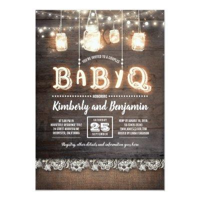 Rustic Country BaByQ Couples Baby Shower