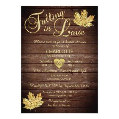 Rustic Country Falling in Love Bridal Shower