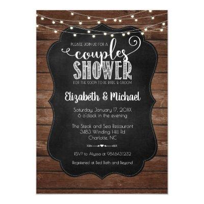 Rustic Couples Shower