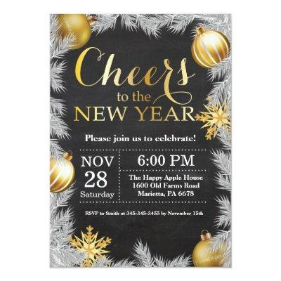 Rustic Gold New Year Eve Party