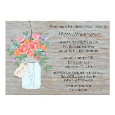 Rustic Mason Jar Bridal Shower