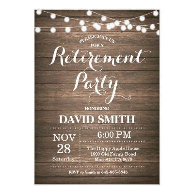 Rustic Retirement Party Invitation