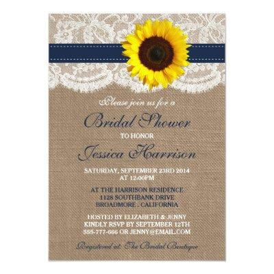 Rustic Sunflower, Burlap & Lace Bridal Shower