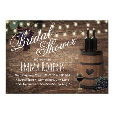 Rustic Wine Barrel Country Winery Bridal Shower