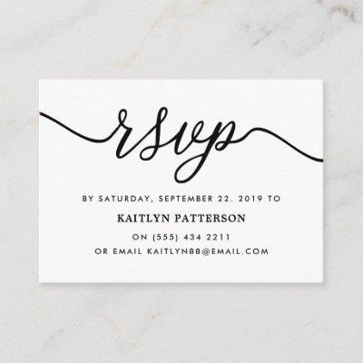 Simple Script RSVP Enclosure