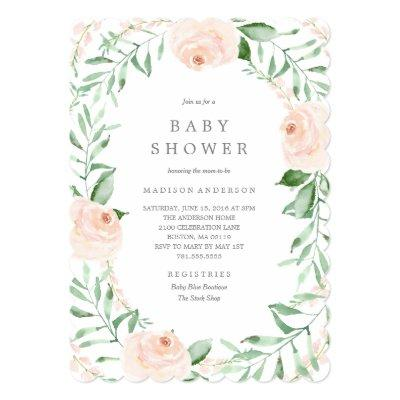 Soft Garden Florals Baby Shower