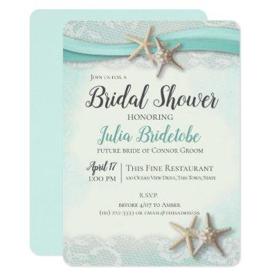 Starfish and Lace Bridal Shower