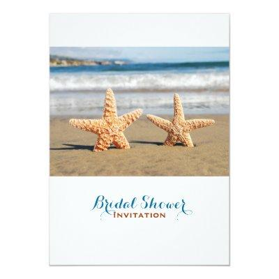 Starfish Couple On The Beach Bridal Shower