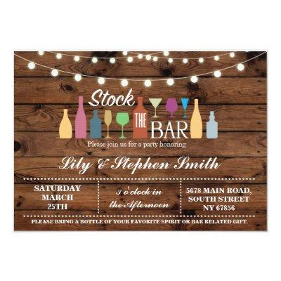 Stock The Bar Wood Engagement Shower