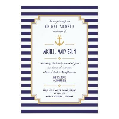 Stylish Nautical Bridal Shower