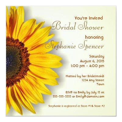 Sunflower Bridal Shower
