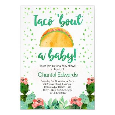 Taco 'Bout A Baby Fiesta Baby Shower