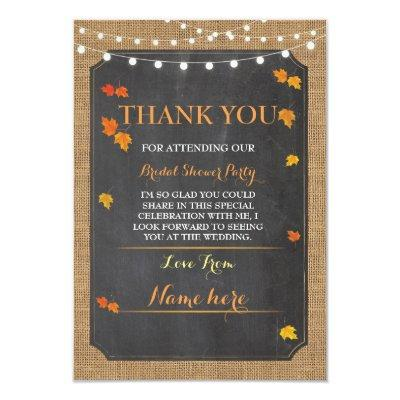 Thank You  Fall In Love Bridal Shower Party