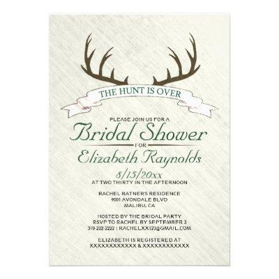 The Hunt is Over Bridal Shower  Custom Invite