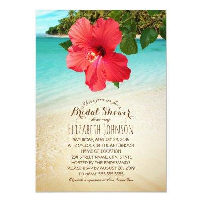 Tropical Hibiscus Beach Themed Bridal Shower