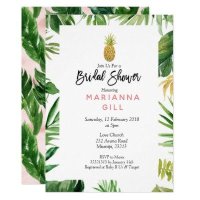 Tropical Themed Pineapple bridal shower