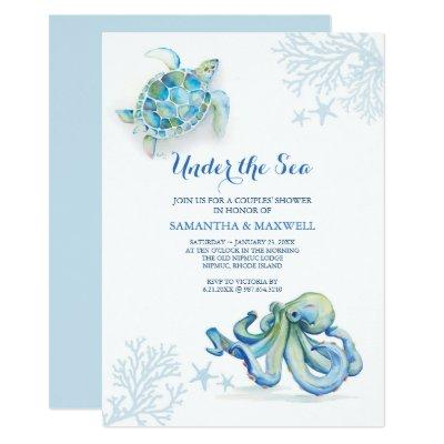 Watercolor Baby Shower  Under The Sea