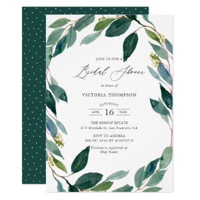 Watercolor Eucalyptus Wreath Bridal Shower