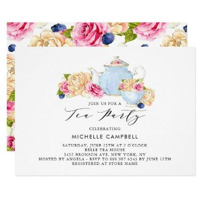 Watercolor Floral Tea Party