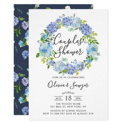 Watercolor Hydrangeas Couples Shower