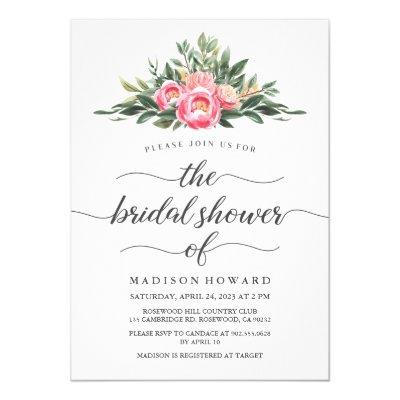 Watercolor Peony Bridal Shower