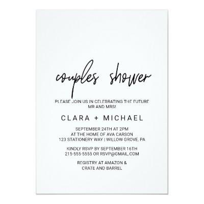 Whimsical Calligraphy Couples Shower