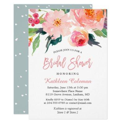 Whimsical Watercolor Floral Modern Bridal Shower