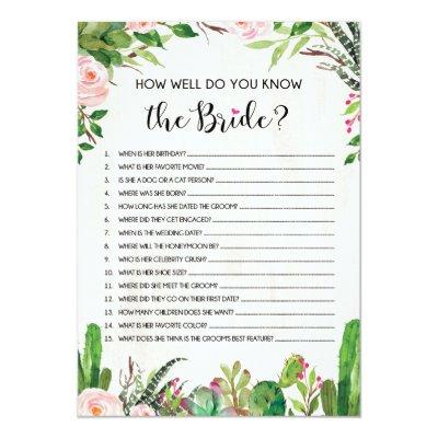 Who Knows Bride Best Fiesta Bridal Shower Game