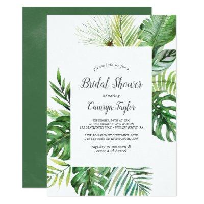 Wild Tropical Palm Bridal Shower
