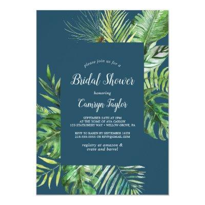 Wild Tropical Palm | Navy Blue Bridal Shower