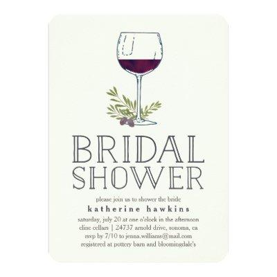 Winery or Wine Tasting Bridal Shower