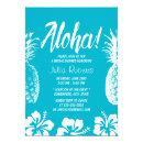 Aloha Beach Wedding Bridal Shower Pineapple Invitations