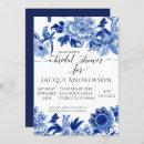 Asian Influence Blue White Floral 2 Bridal Shower
