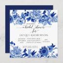 Asian Influence Blue White Floral |Bridal Shower