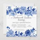 Asian Influence Blue White Floral Bridesmaids